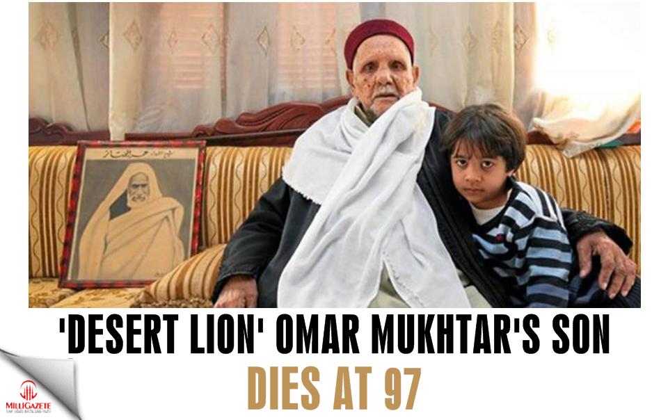 'Desert Lion' Omar Mukhtar's only son dies at 97