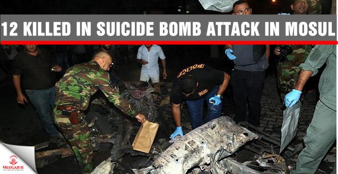 12 killed in suicide bomb attack in Mosul