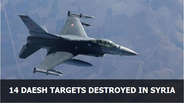 14 Daesh targets destroyed in Syria