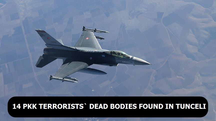 14 PKK terrorists` dead bodies found in Tunceli