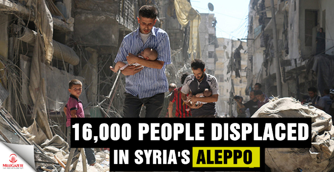 16,000 people displaced in Syria's Aleppo