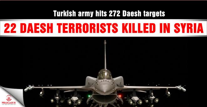 22 Daesh terrorists killed in Syria