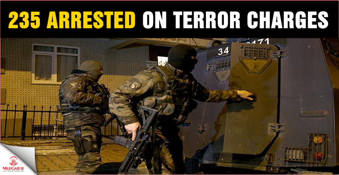 235 arrested on terror charges