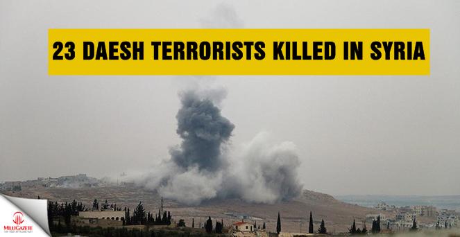 23 Daesh terrorists killed in Syria