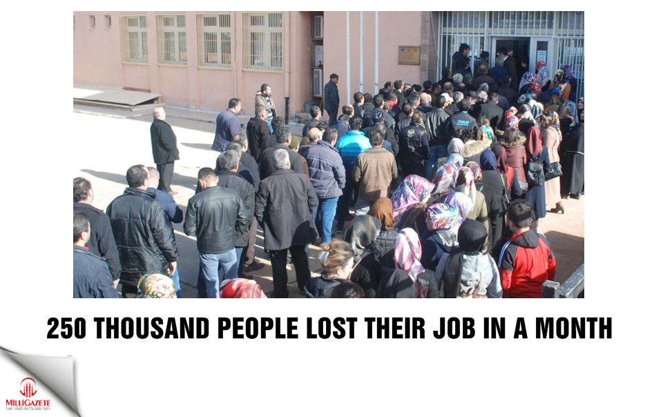 250 thousand people lost their job in a month