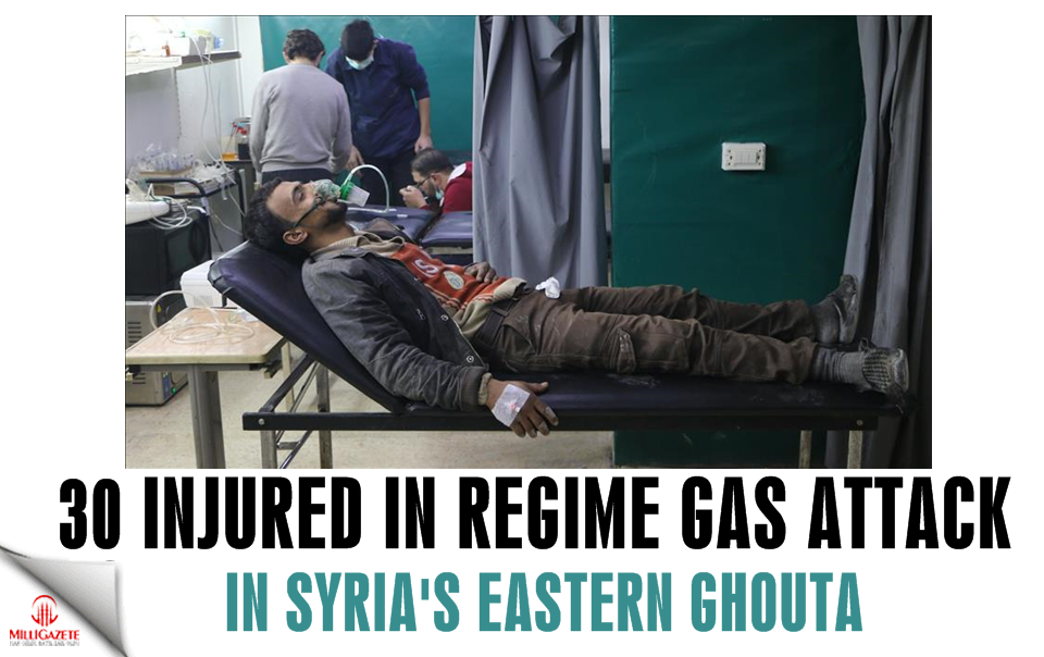30 injured in regime gas attack in Syria's E. Ghouta
