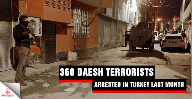 365 Daesh terrorists arrested in Turkey last month