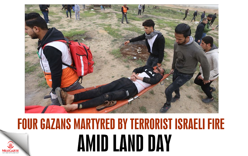 4 Gazans martyred by Israeli fire amid Land Day