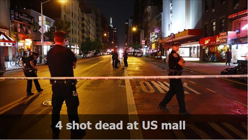 4 shot dead at US mall