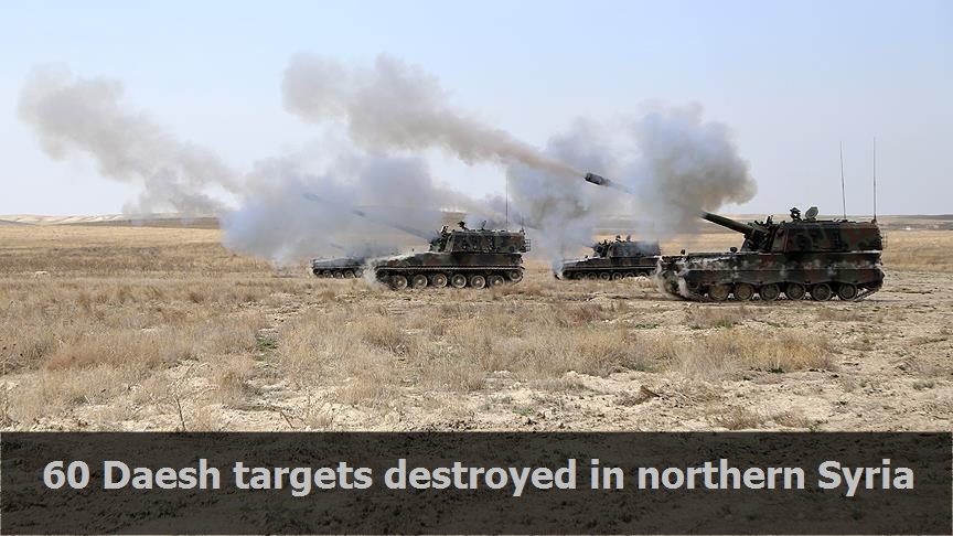 60 Daesh targets destroyed in northern Syria