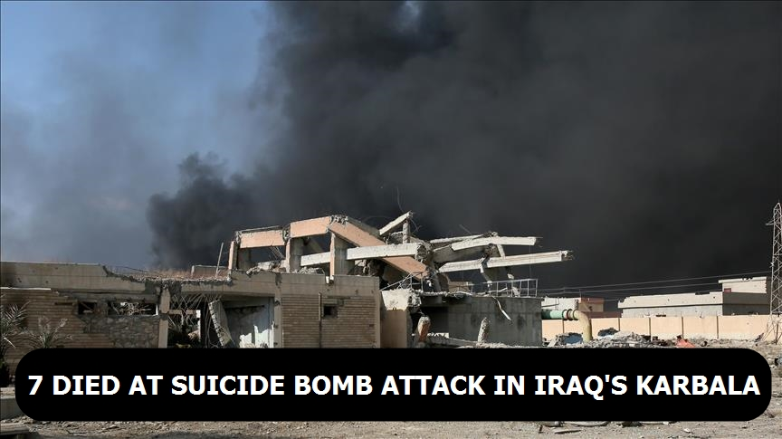 7 died at suicide bomb attack in Iraq's Karbala