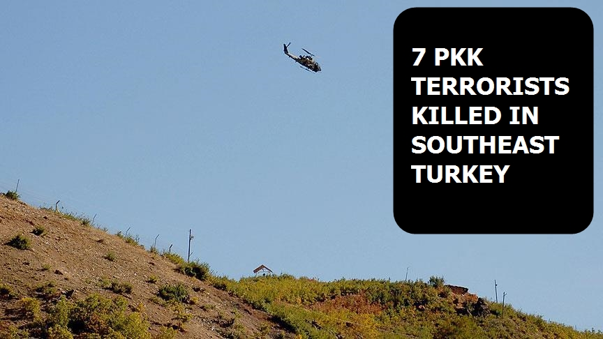 7 PKK terrorists killed in southeast Turkey