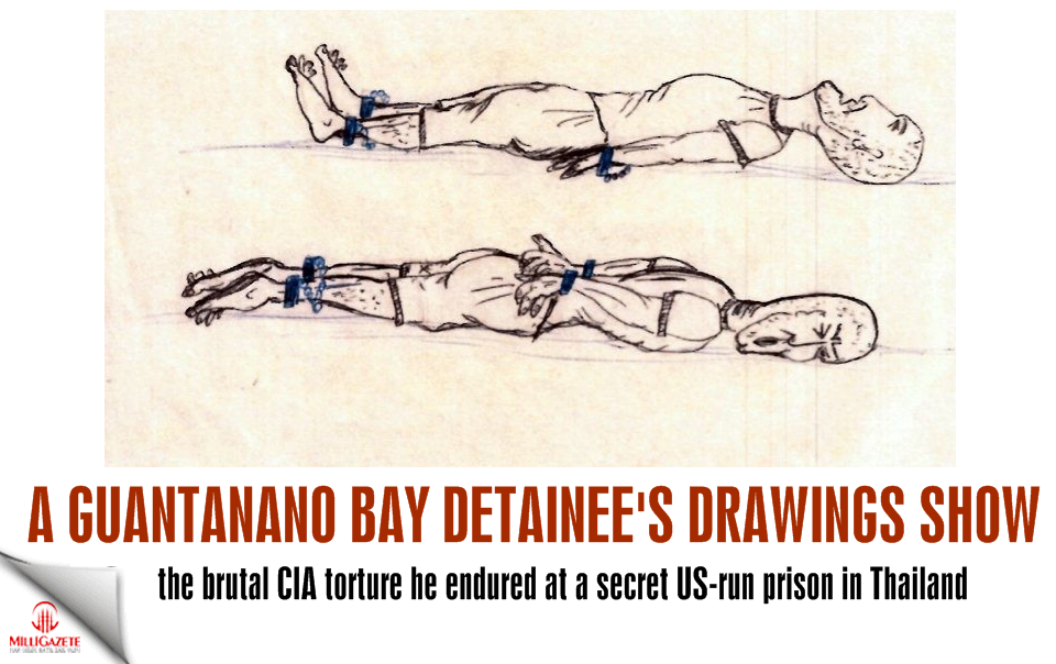 A Guantánamo Bay detainee's drawings show the brutal CIA torture he endured at a secret US-run prison in Thailand