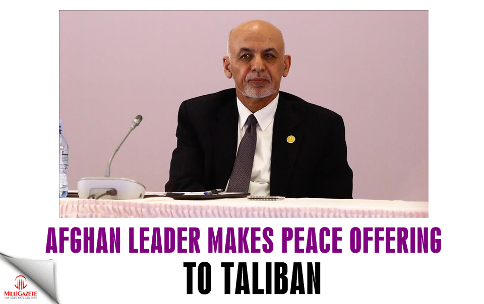 Afghan leader makes peace offering to Taliban