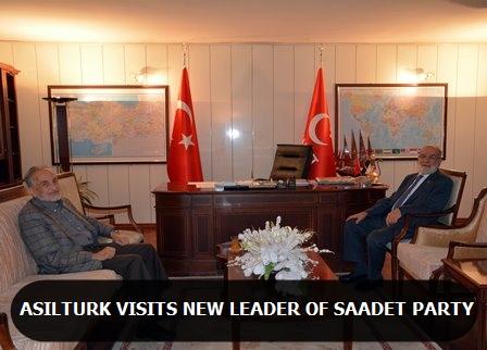 Asiltürk visits new leader of Saadet Party