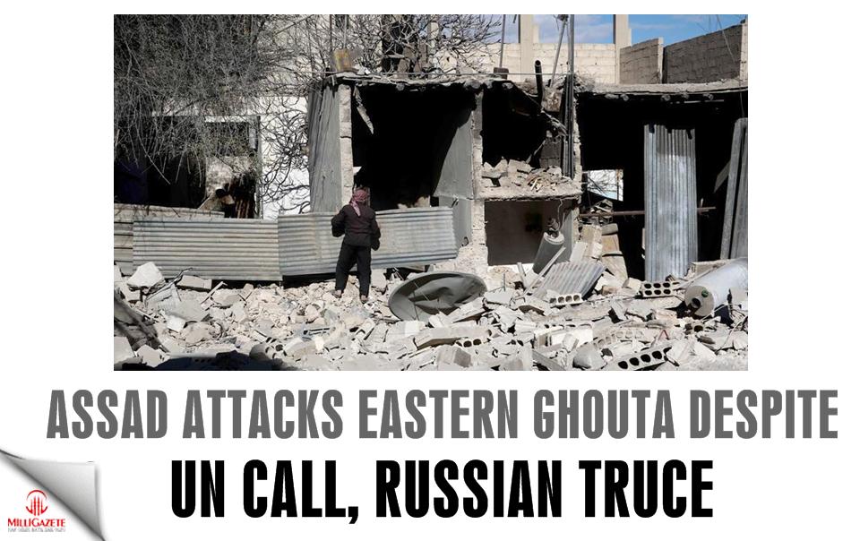 Assad attacks E. Ghouta despite UN call, Russian truce