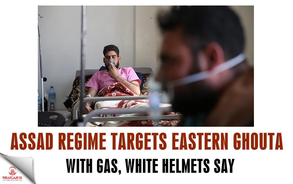 Assad regime targets E. Ghouta with gas: White Helmets