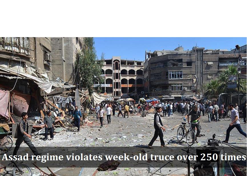 Assad regime violates week-old truce over 250 times