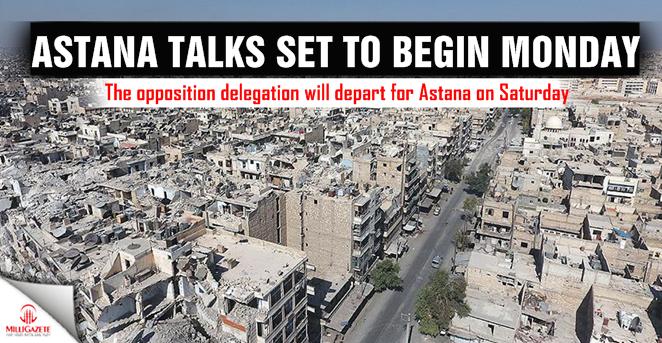 Astana talks set to begin monday