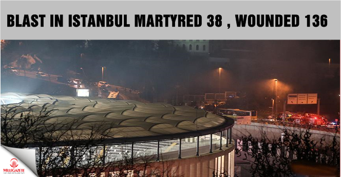 Blast in Istanbul martyred 38, wounded 136