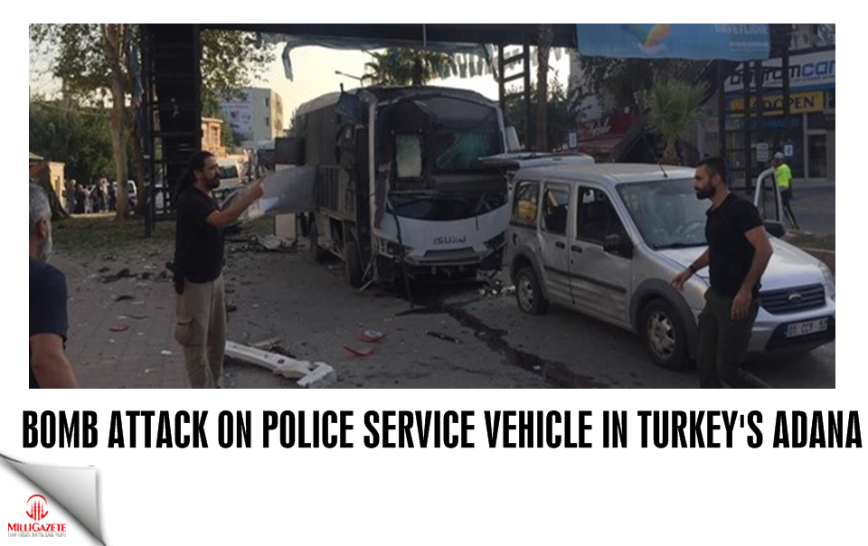 Bomb attack on police service vehicle in Turkey's Adana