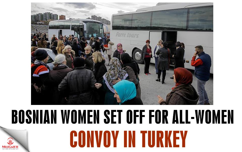 Bosnian women set off for all-women convoy in Turkey