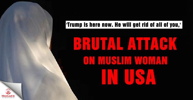 Brutal attack on Muslim woman in USA