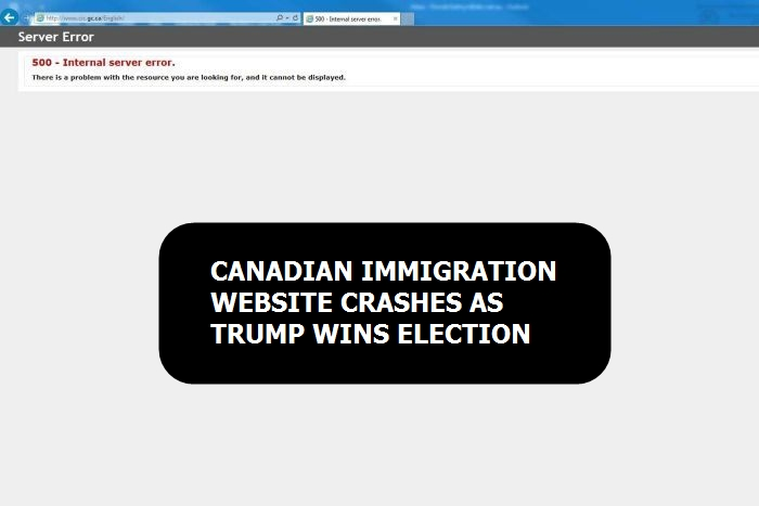 Canadian immigration website crashes as Trump wins election