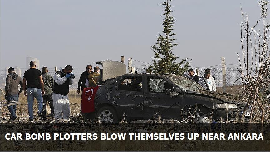 Car bomb plotters blow themselves up near Ankara