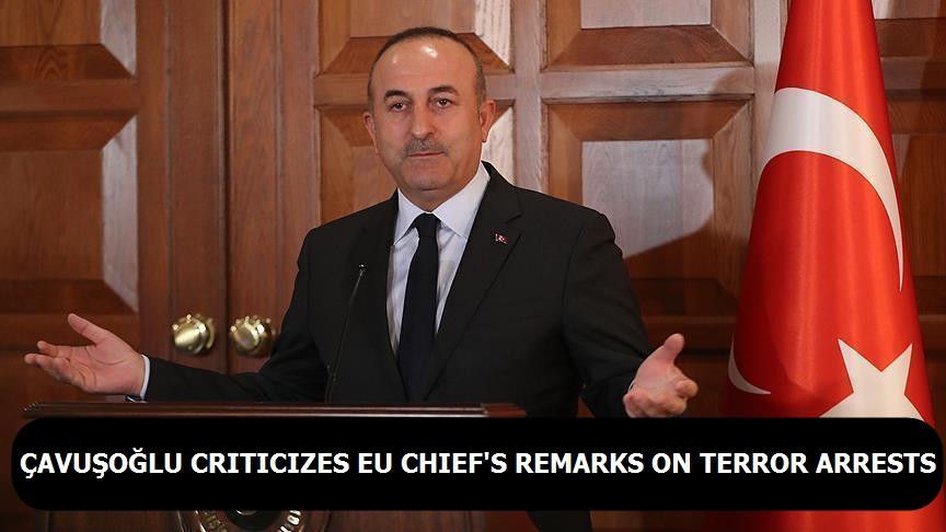 Çavuşoğlu criticizes EU chief's remarks on terror arrests