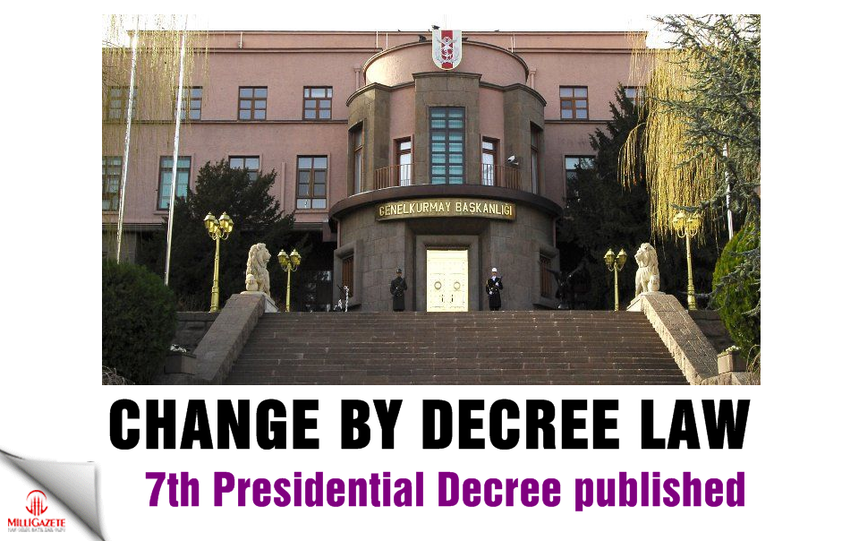 Change by decree! 7th Presidential Decree published