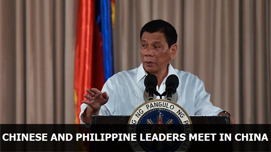Chinese and Philippine leaders meet in China