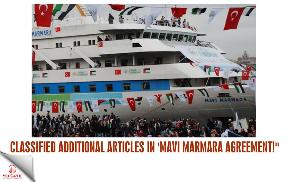 Classified additional articles in 'Mavi Marmara agreement'