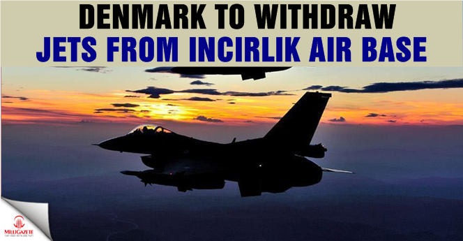 Denmark to withdraw jets from Incirlik Air Base