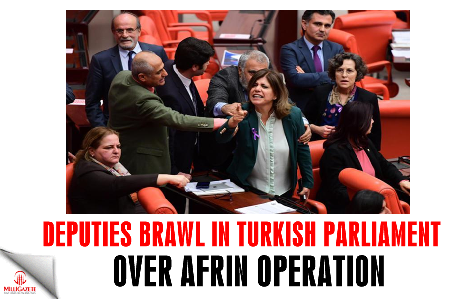 Deputies brawl in Turkish Parliament over Afrin operation