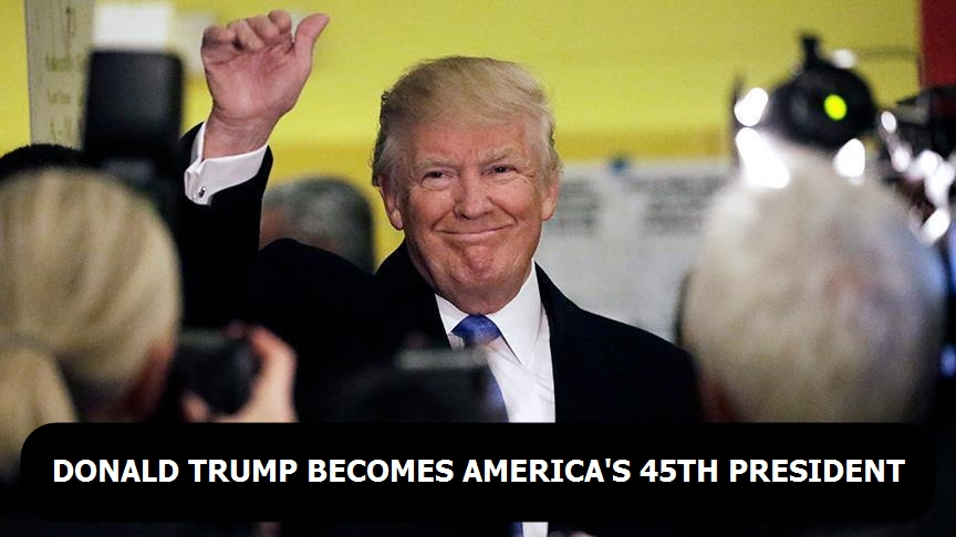 Donald Trump becomes America's President
