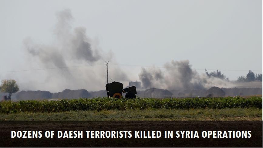 Dozens of Daesh terrorists killed in Syria operations