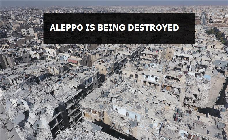Drone footage shows devastation of Syria's Aleppo