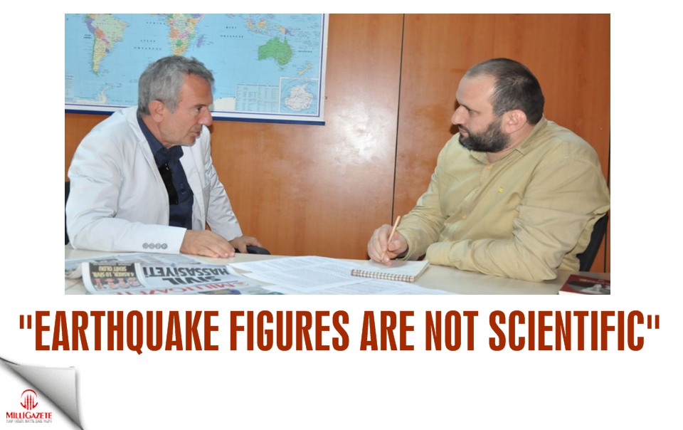 Earthquake figures are not scientific