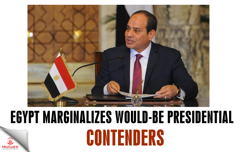 Egypt marginalizes would-be presidential contenders