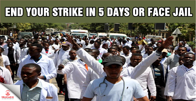 End your strike in five days or face jail time