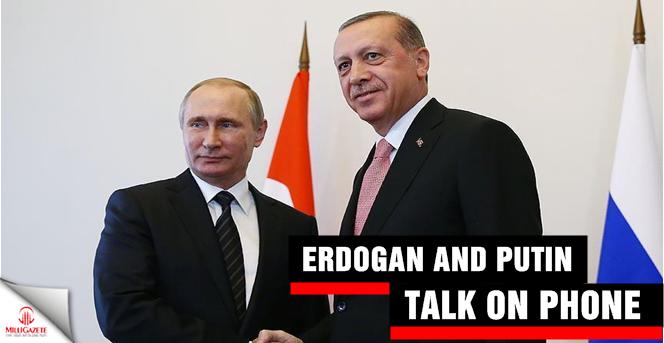 Erdogan and Putin talk on phone