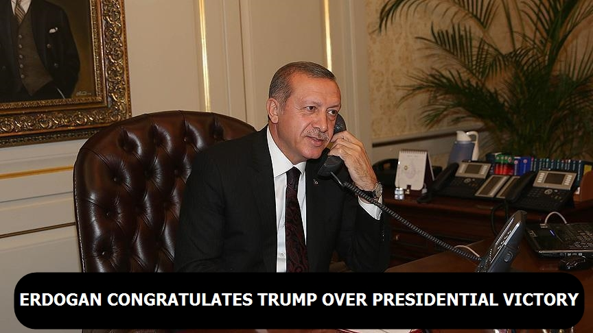 Erdogan congratulates Trump over Presidential victory