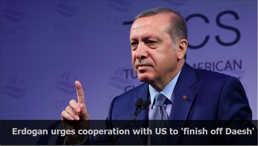 Erdogan urges cooperation with US to 'finish off Daesh'