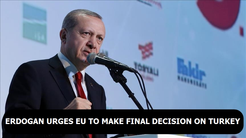 Erdogan urges EU to make final decision on Turkey
