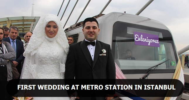 First wedding at Metro station in Istanbul