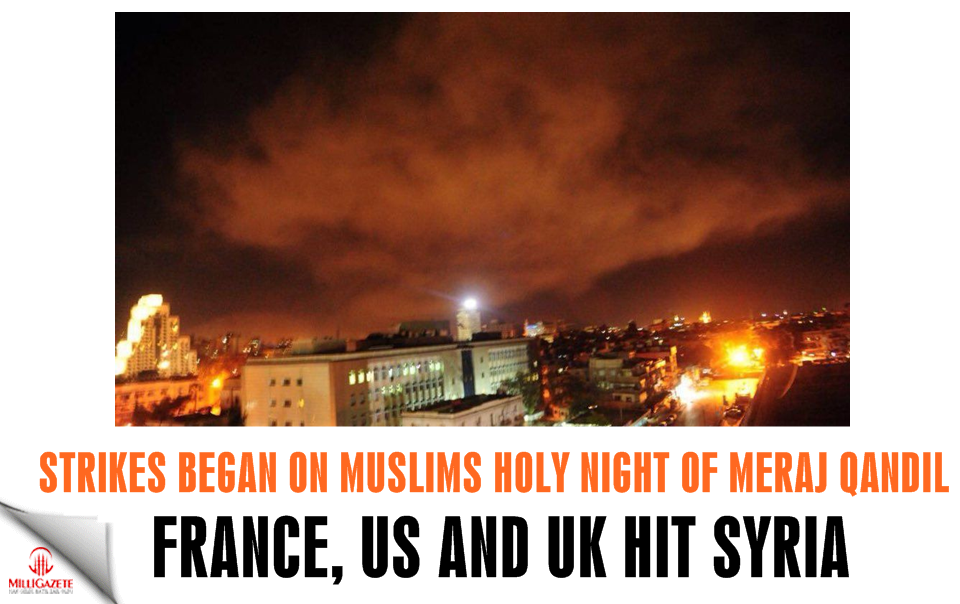 France, Britain, and the United States hit Syria