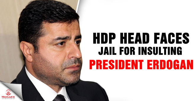 HDP leader faces jail for insulting President Erdogan