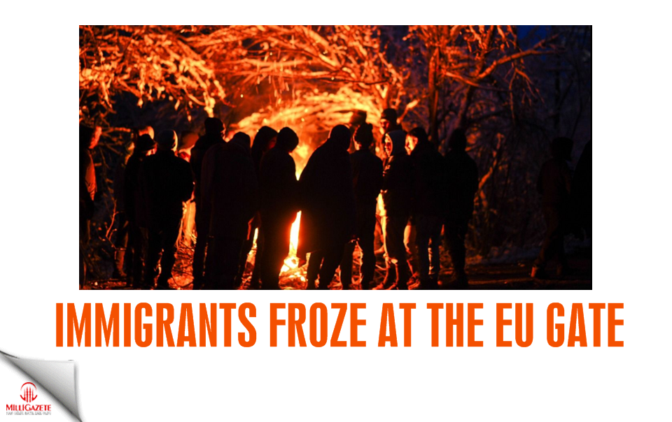Immigrants froze at the EU gate