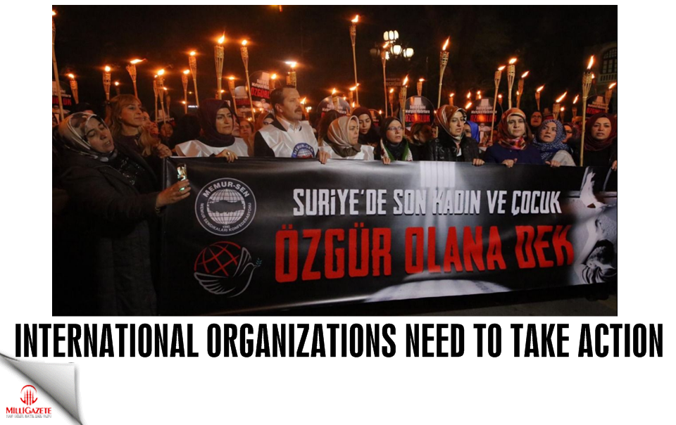 International organizations need to take action